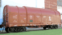 Вагон-платформа для перевозки стали в рулонах 13-975