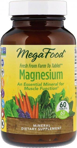 Магній MegaFood Magnesium 60 таблеток Оригінал! (345120)