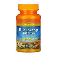 Вітаміни і мінерали Thompson B-12 Lozenge 1000 мкг plus folic acid 30 табл Знижка! (235275)