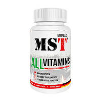 Вітаміни і мінерали MST Nutrition All Vitamins 60 капс Оригінал! (345522)