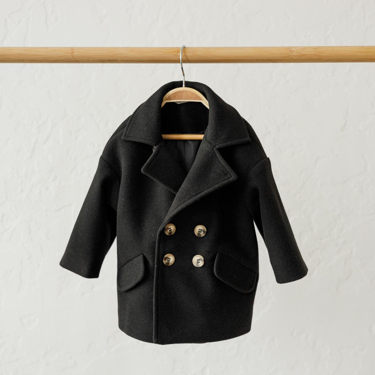 """Кашемировое пальто """"Gwen"""" черное"""
