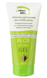 Крем косметичний «Salutare juice» гель з соком Алое, гіалуроновою кислотою і Д-пантенолом, Green Pharm Cosmetic,200 мл