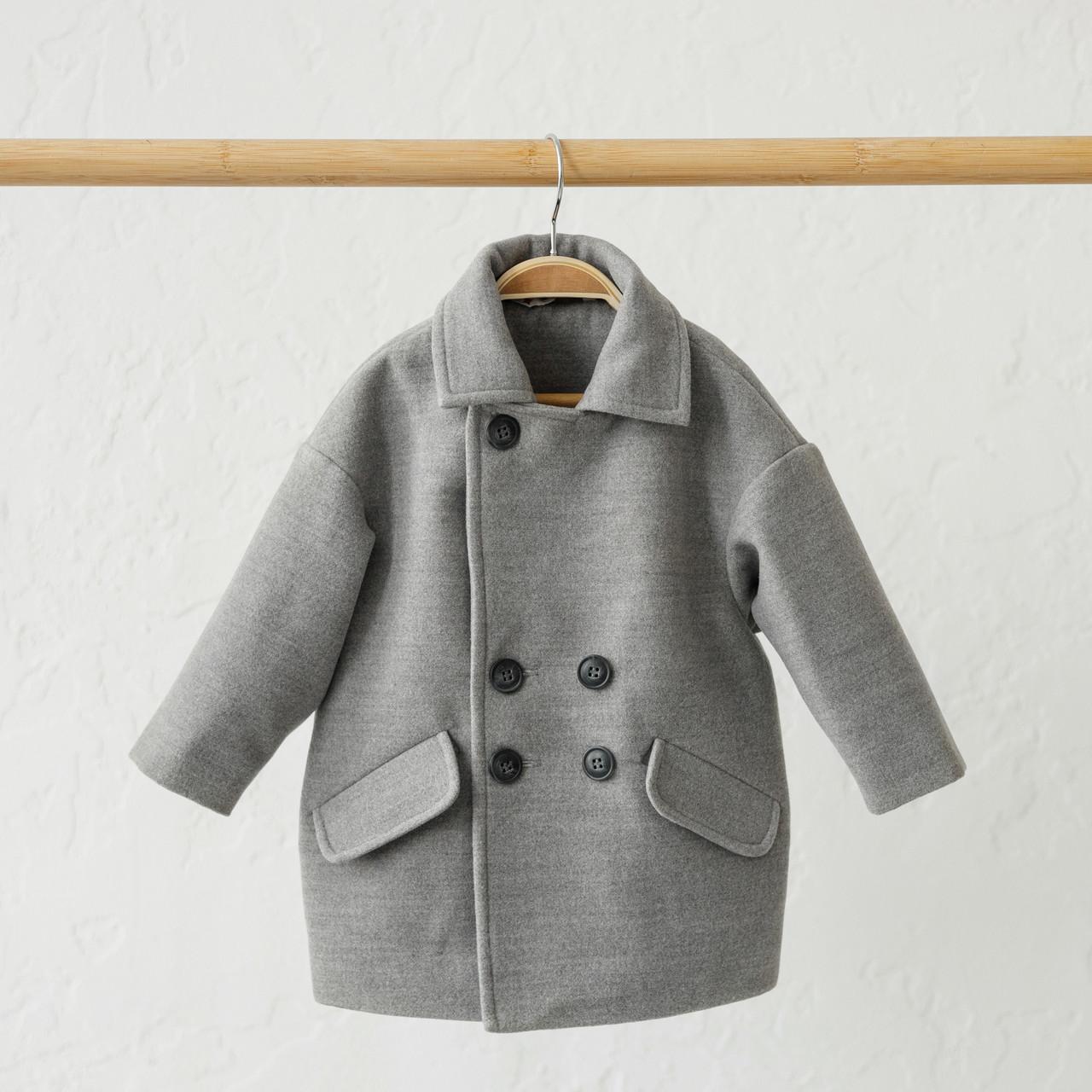 """Кашемировое пальто """"Gwen"""" серое"""