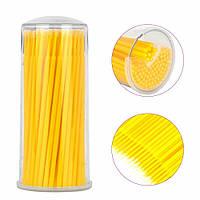 Мікробраші  в тубі жовті (100 шт), фото 1