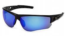 Очки защитные открытые Venture Gear ATWATER (ice blue mirror) синие зеркальные