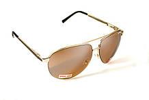 Очки защитные открытые Global Vision AVIATOR-4 (drive mirror) коричневые