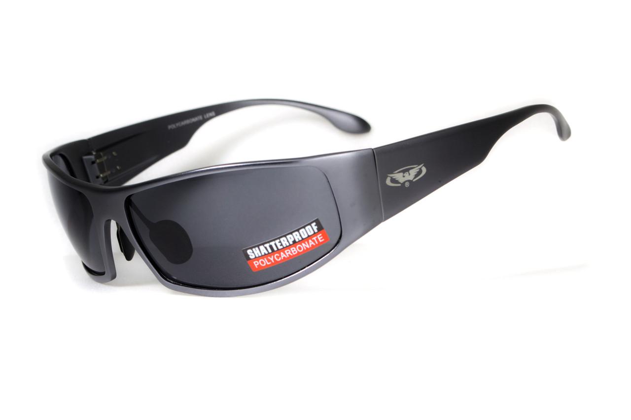 Окуляри захисні відкриті Global Vision BAD ASS-1 GunMetal (gray) сірі