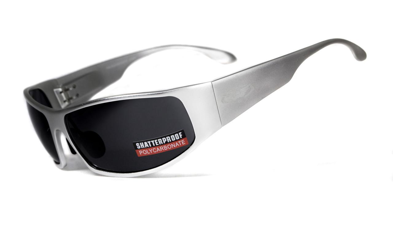 Очки защитные открытые Global Vision BAD-ASS-1 Silver (gray) серые