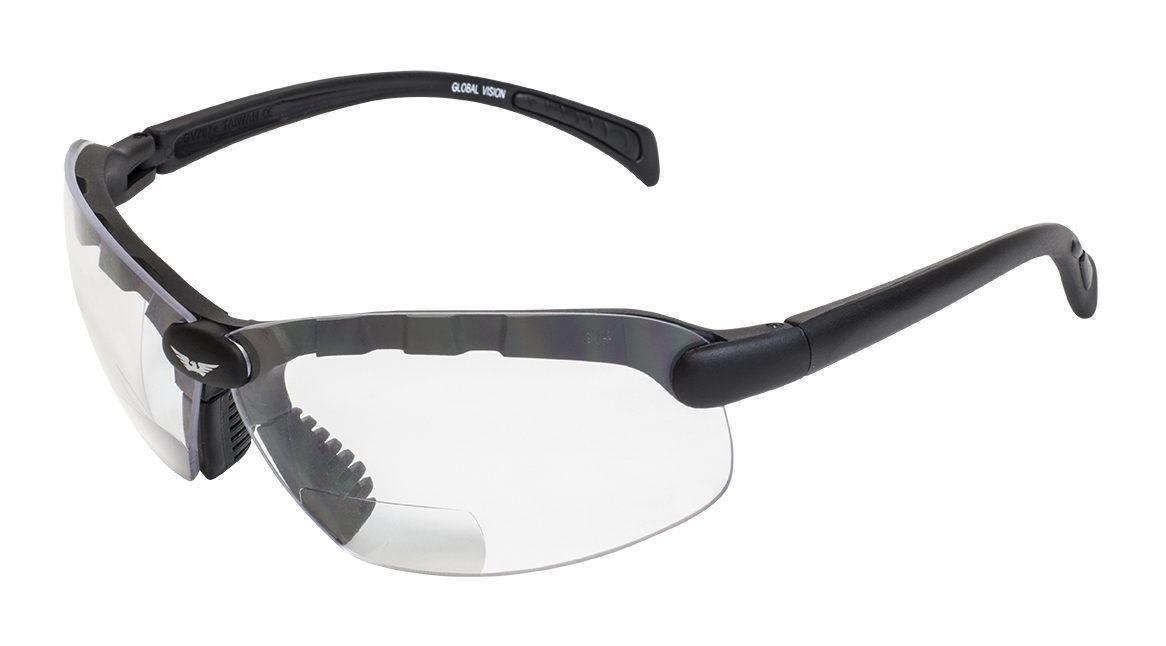 Бифокальные защитные очки Global Vision C-2 BIFOCAL (+1.0) (clear) прозрачные