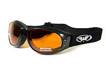 Окуляри захисні з ущільнювачем Global Vision ELIMINATOR (orange) помаранчеві