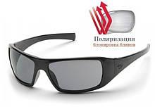 Поляризаційні окуляри захисні 2в1 Pyramex GOLIATH Polarized (gray) сірі