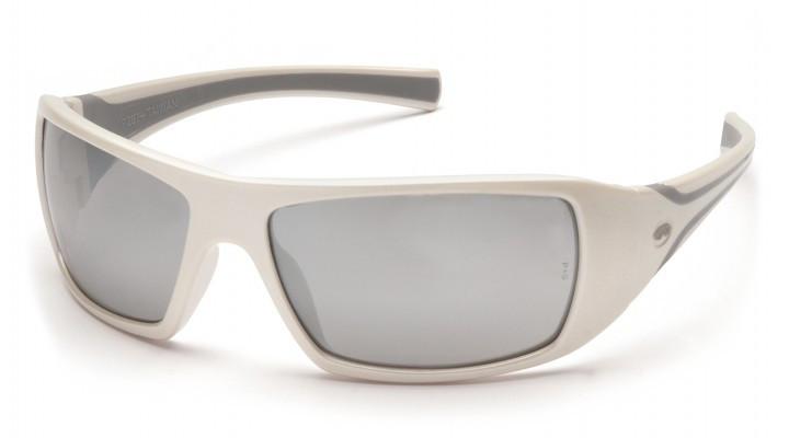 Окуляри захисні відкриті Pyramex GOLIATH White (mirror silver) дзеркальні сірі