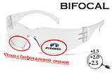 Бифокальные защитные очки Pyramex INTRUDER Bif (+2.0) (clear) прозрачные, фото 2