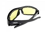 Окуляри захисні фотохромні Global Vision ITALIANO Plus Photocromic (yellow) жовті фотохромні, фото 3