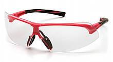 Очки защитные Pyramex ONIX (clear) прозрачные в розовой оправе