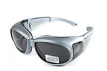 Очки защитные с уплотнителем Global Vision OUTFITTER Metallic (gray) серые