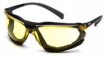 Очки защитные с уплотнителем Pyramex PROXIMITY (Anti-Fog) (amber) желтые