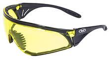 Очки защитные с уплотнителем Global Vision PYTHON (RattleSnake) (yellow) желтые