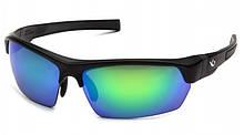 Очки поляризационные защитные 2в1 Venture Gear TENSAW Polarized (green mirror) зеркальные сине-зеленые