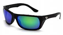 Очки поляризационные защитные 2в1 Venture Gear VALLEJO Polarized (green mirror) зеркальные сине-зеленые