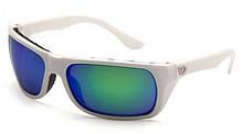 Поляризаційні окуляри захисні 2в1 Venture Gear VALLEJO White Polarized (green mirror) дзеркальні синьо-зелені