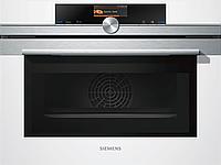 Компактный духовой шкаф с интегрированной микроволновой печью Siemens CM636GBW1, белый