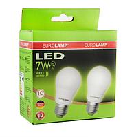 Промо-набор ламп светодиодных EUROLAMP LED А50 7W E27 530 Lm 3000K Акция 1+1