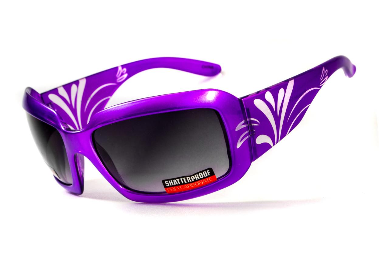 Окуляри захисні відкриті Global Vision Purple PASSION (gradient smoke) сірі з градієнтом