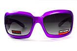 Окуляри захисні відкриті Global Vision Purple PASSION (gradient smoke) сірі з градієнтом, фото 3