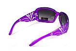Окуляри захисні відкриті Global Vision Purple PASSION (gradient smoke) сірі з градієнтом, фото 4