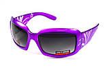 Окуляри захисні відкриті Global Vision Purple PASSION (gradient smoke) сірі з градієнтом, фото 5
