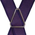 Неповторимые мужские подтяжки LINDENMANN Артикул: FARE8602-002 фиолетовый, фото 3