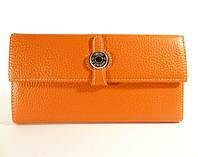 Кожаный кошелек, купюрник Hermes A 2035 оранжевый