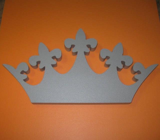 """Декорация """"Корона"""" из экструдированного пенополистирола XPS без покраски. Размеры - 50*25*3 см."""