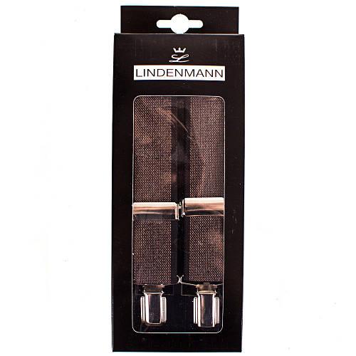 Сдержанные мужские подтяжки LINDENMANN Артикул: FARE8602-004 коричневый