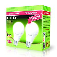 Промо-набор ламп светодиодных EUROLAMP LED А60 10W E27 4000K 880 Lm Акция 1+1