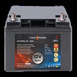 Аккумулятор для автомобиля литиевый LP LiFePO4 12V - 36 Ah (+ справа, обратная полярность) пластик