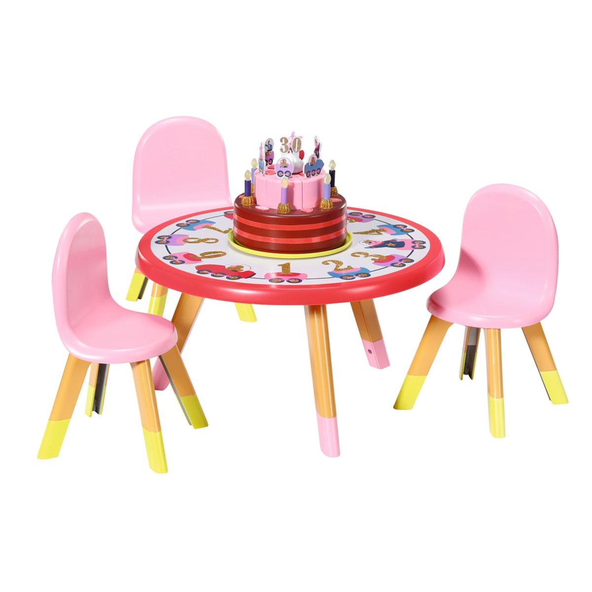 """Набор мебели для куклы baby born серии """"день рождения"""" - вечеринка с тортом (стол, стулья, аксесс.)"""