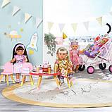 """Набор мебели для куклы baby born серии """"день рождения"""" - вечеринка с тортом (стол, стулья, аксесс.), фото 5"""