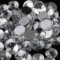 Пришивные акриловые камни.Риволи Crystal 12mm.Цена за 1шт