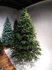 """Искусственная зеленая елка зонтик с литыми ветками """"Казкова"""", высота 2,3 м"""