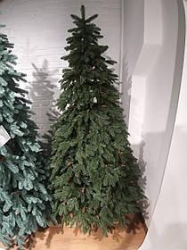 """Искусственная зеленая елка с литыми ветками """"Адель"""" с шишкой"""", высота 2,2 м"""