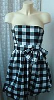 Платье женское нарядное в клетку мини бренд Atmosphere р.44 5087