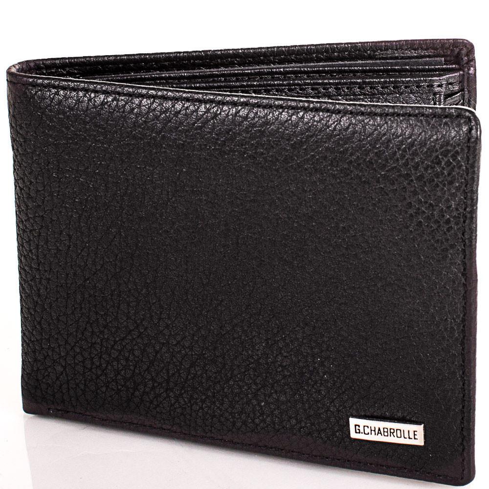 Містке чоловіче портмоне з натуральної шкіри Georges Chabrolle Артикул: FARE81065-2 чорний