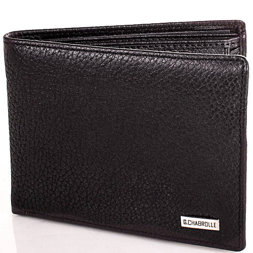 Вместительное мужское портмоне из натуральной кожи Georges Chabrolle Артикул: FARE81065-2 черный