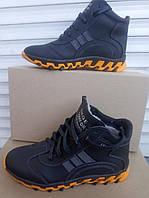 Зимние кожаные ботинки подростковые