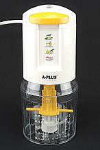Кухонный электрический блендер двойной измельчитель A-PLUS EC-1546 300W для мяса овощей и фруктов чоппер
