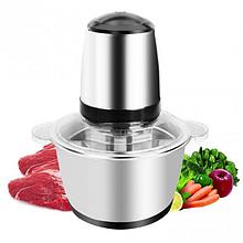 Кухонный электрический блендер двойной измельчитель SHANGBOCHUPIN 8001 для мяса овощей и фруктов чоппер