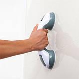 Ручка поручень Helping Handle на вакуумних присосках для ванної, фото 7