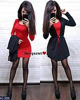 Красивий жіночий молодіжний костюм з сукнею і кардіганом р-ри 42-44
